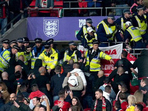 Crowd trouble marred England's clash with Hungary at Wembley (Nick Potts/PA)