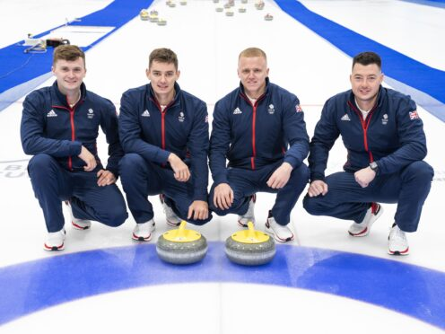 Grant Hardie, Bobby Lammie, Bruce Mouat, and Hammy McMillan will form the GB men's curling team at the Winter Olympics (Jane Barlow/PA)