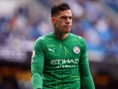 Ederson missed Manchester City's victory over Burnley (Martin Rickett/PA)