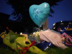 Tributes at the scene near the Belfairs Methodist Church (Yui Mok/PA)