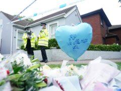 Flowers left at the scene near Belfairs Methodist Church in Leigh-on-Sea where the MP was killed (Dominic Lipinski/PA)