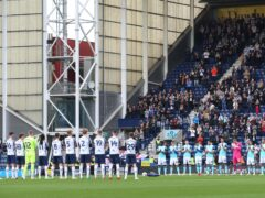 Preston and Derby remembered Trevor Hemmings (Nigel French/PA)