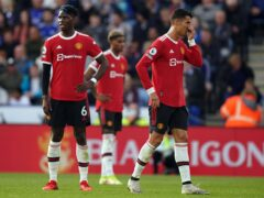 Paul Pogba (left) said Manchester United deserved to lose at Leicester (Mike Egerton/PA)