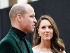 The Duke and Duchess of Cambridge attend the first Earthshot Prize awards ceremony at Alexandra Palace in London. Picture date: Sunday October 17, 2021.