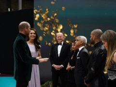 The Duke and Duchess of Cambridge speak with guests as they attend the first Earthshot Prize awards ceremony at Alexandra Palace (Alberto Pezzali/PA)