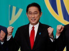 Japan's prime minister Fumio Kishida (Issel Kato/AP)