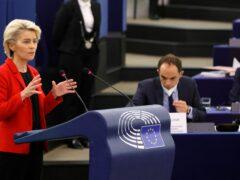 European Commission president Ursula von der Leyen delivers her speech (Ronald Wittek, Pool Photo via AP)