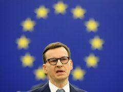 Poland's Prime Minister Mateusz Morawiecki (Ronald Wittek, Pool Photo via AP)