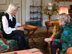 The Duchess of Cornwall (left) was interviewed by Gloria Hunniford (BBC/PA)