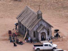 The film set at the Bonanza Creek Ranch in Santa Fe (Jae C Hong/AP)