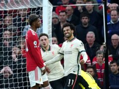 Mohamed Salah scored a hat-trick as Liverpool thrashed Manchester United 5-0 (Martin Rickett/PA)