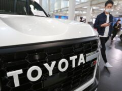 A Toyota car at a showroom in Tokyo (AP)