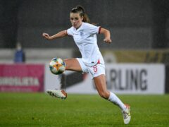 England's Ella Ann Toone struck a hat-trick as England romped to a 10-0 win against Latvia (Roman Koksarov/AP)