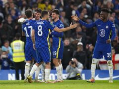 Chelsea celebrate another shoot-out success (Nick Potts/PA)