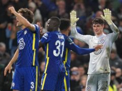 Chelsea celebrate their penalty shoot-out victory over Southampton (Nick Potts/PA)