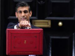 Chancellor Rishi Sunak leaving 11 Downing Street before delivering his Budget to the House of Commons (Jacob King/PA)