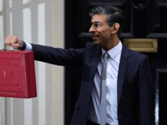 Chancellor of the Exchequer Rishi Sunak leaving 11 Downing Street (Jacob King/PA)