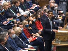 Government ministers listen to Chancellor Rishi Sunak deliver his Budget (PA Wire)