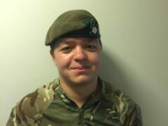 Jethro Watson-Pickering (Yorkshire Regiment/PA)