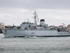 HMS Brocklesby returned to Portsmouth on Friday (Royal Navy/PA)