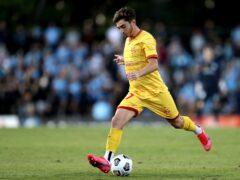Josh Cavallo in action for Adelaide United (Brendon Thorne/AAP Image via AP)