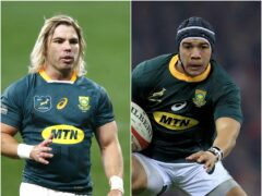 South Africa scrum-half Faf de Klerk, left, and wing Cheslin Kolbe are sidelined by injury (Steve Haag/Mike Egerton/PA)