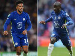 Chelsea's Reece James and N'Golo Kante (Mike Egerton/Nick Potts/PA).