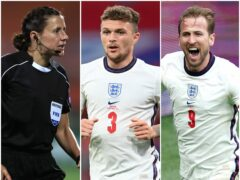 A refereeing first, captain Trippier and Kane on the bench for England's World Cup qualifier in Andorra (Mike Egerton/PA/Michael Regan/PA./Mike Egerton/PA)