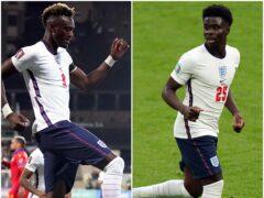 Bukayo Saka has praised England team-mate Tammy Abraham. (Lindsey Parnaby/Nick Potts/PA)