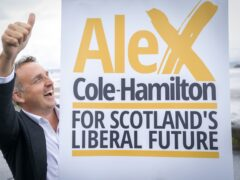 Alex Cole-Hamilton said he wants the Lib Dems to be a 'credible party of Government again' as he hinted at a possible future coalition with Anas Sarwar's Labour (Jane Barlow/PA)