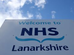 NHS Lanarkshire has suspended scheduled procedures as it moves to the highest risk level (Andrew Milligan/PA)