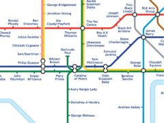 London's Tube map has been reimagined to celebrate the contribution black people have made to British life throughout history (TfL/PA)