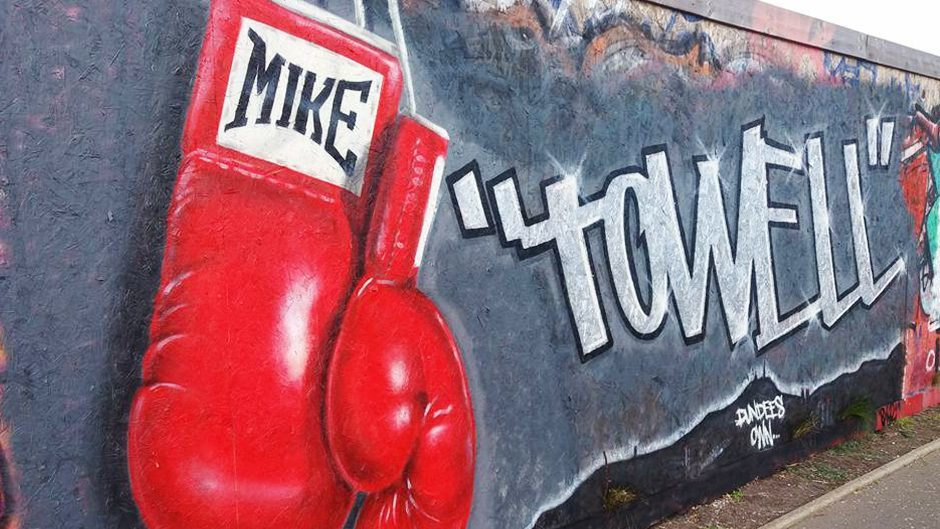 A mural created in Dundee in memory of Mike.