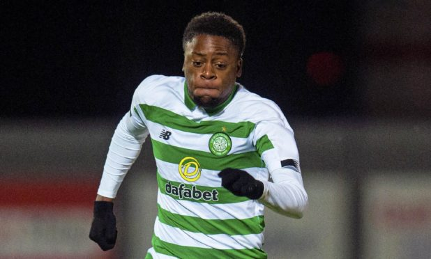 Jonathan Afolabi is on loan at Dundee from Celtic.