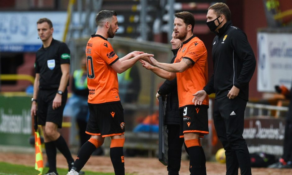 New signings Marc McNulty made his Dundee United debut off the bench against Aberdeen earlier this month.