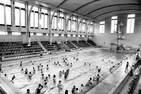 An old image of the Baths