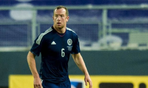 Charlie Adam in action for Scotland.