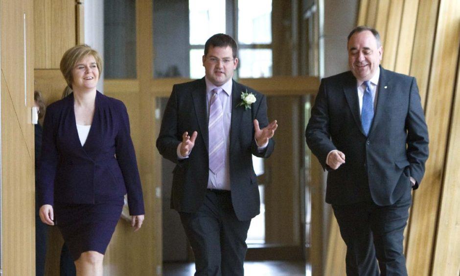 Nicola Sturgeon, Mark McDonald and Alex Salmond.