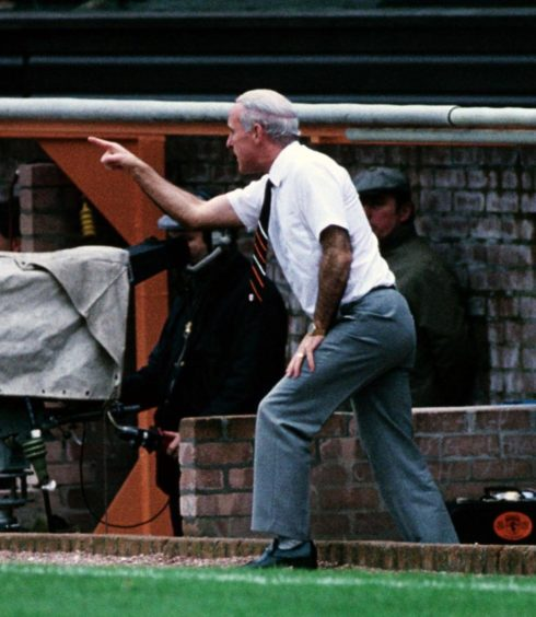 Former Dundee United manager Jim McLean.