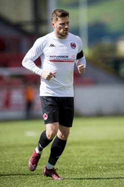 David Goodwillie in action for Clyde.