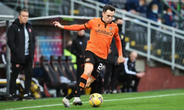 Lawrence Shankland in action for Dundee United.