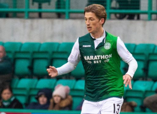 Ryan Gauld pictured during loan spell at Hibs.