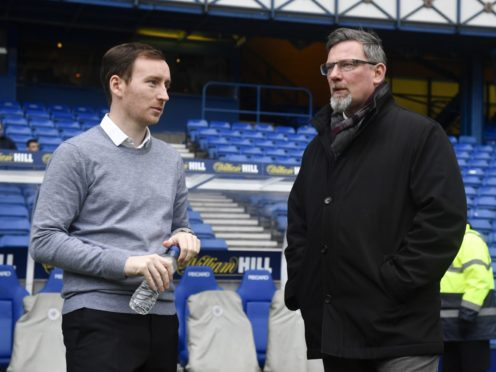 Ian Cathro and Craig Levein pictured at Ibrox in 2016.