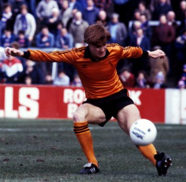 Richard Gough in action for Dundee United against Rangers in 1982.
