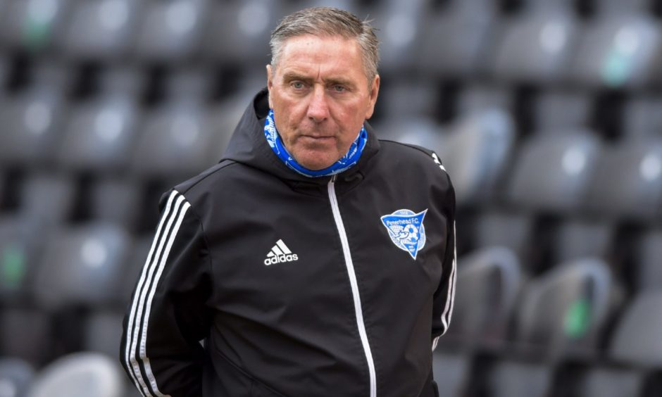 Peterhead manager Jim McInally was back at Tannadice at the start of the season for a Betfred Cup fixture.