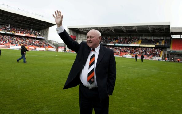 Jim McLean at Tannadice after Dundee United named stand in his honour in 2011.