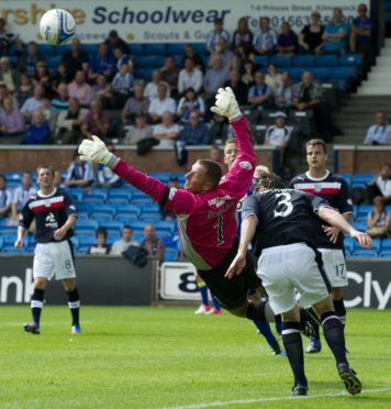 Rab Douglas in action for Dundee in 2012.