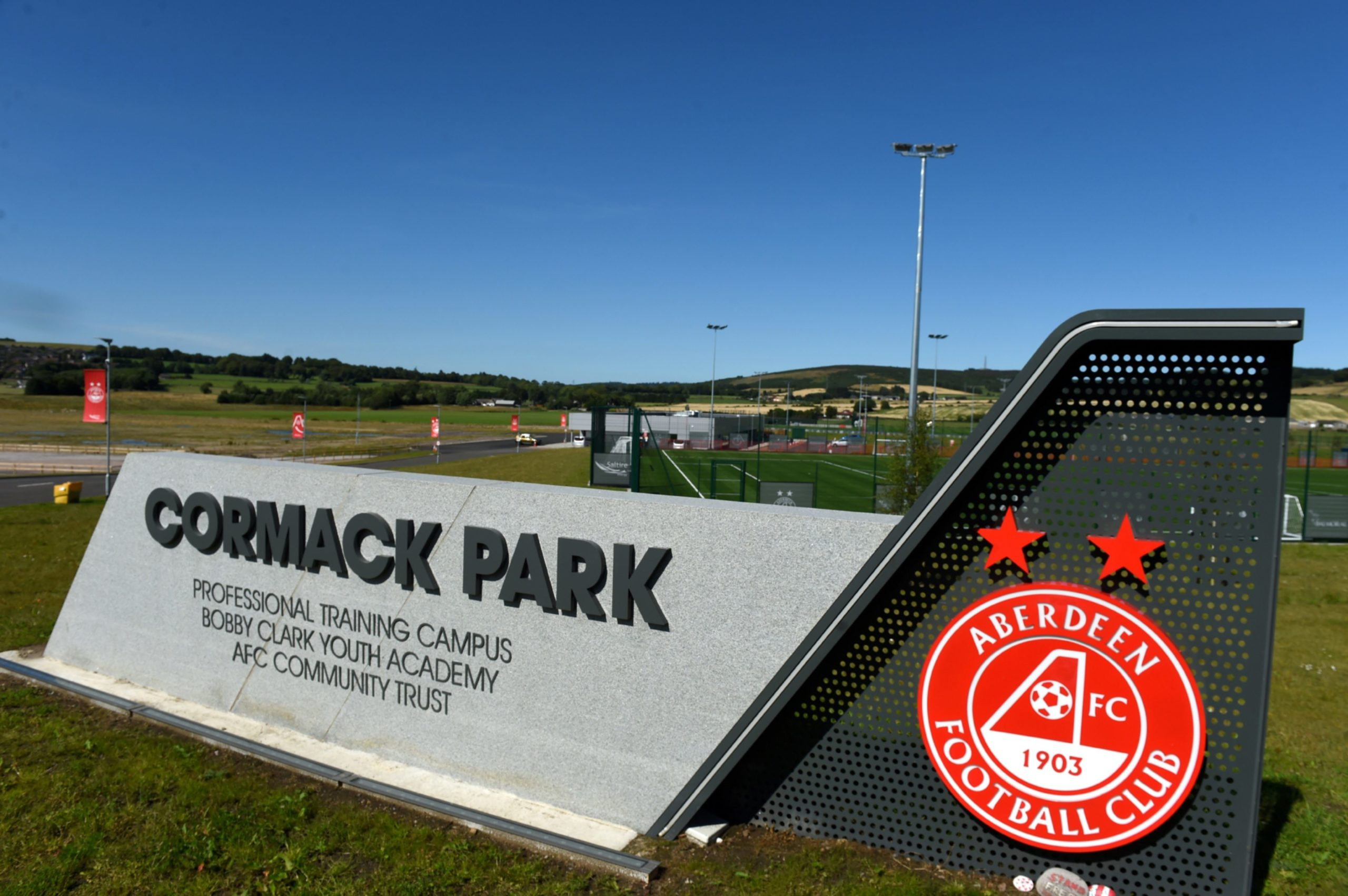 Cormack Park, where Aberdeen train. Picture by Kenny Elrick