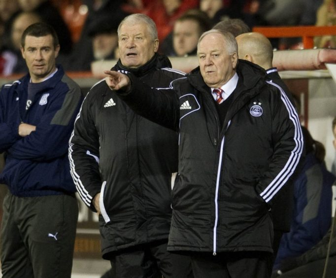 Archie Knox returned to Pittodrie in 2010 as assistant to Craig Brown.