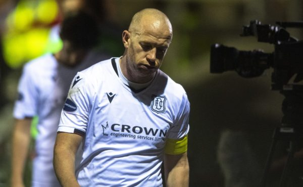 Charlie Adam at full-time after Dundee's draw with Arbroath.